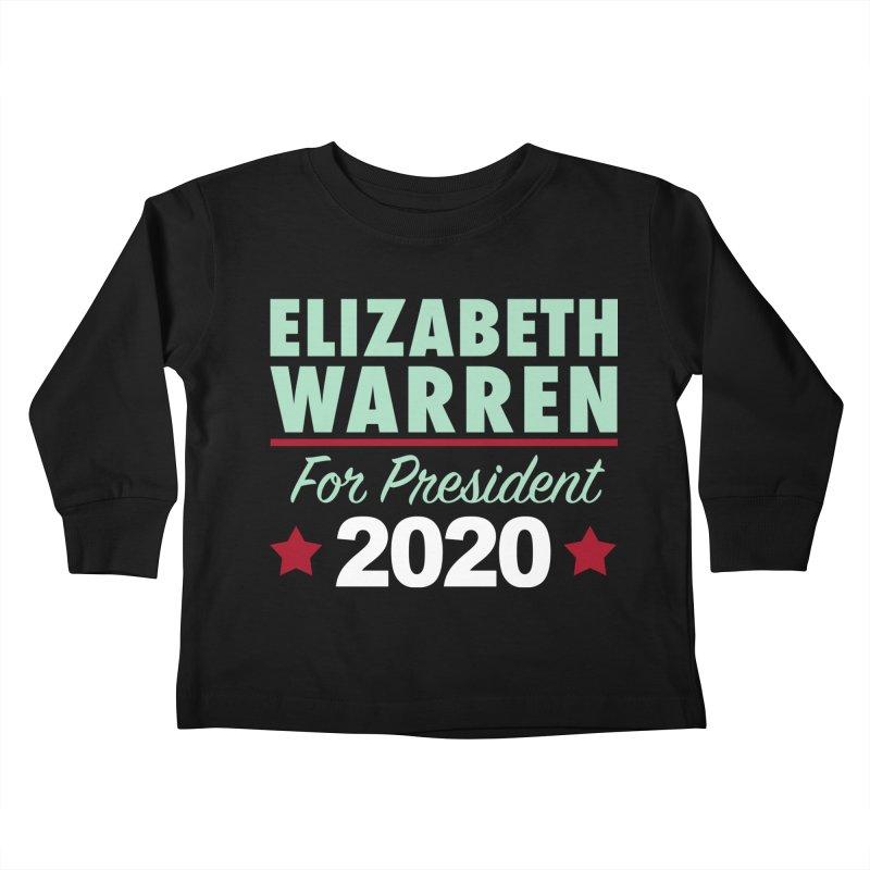 Elizabeth Warren for President Kids Toddler Longsleeve T-Shirt by Kate Gabrielle's Artist Shop
