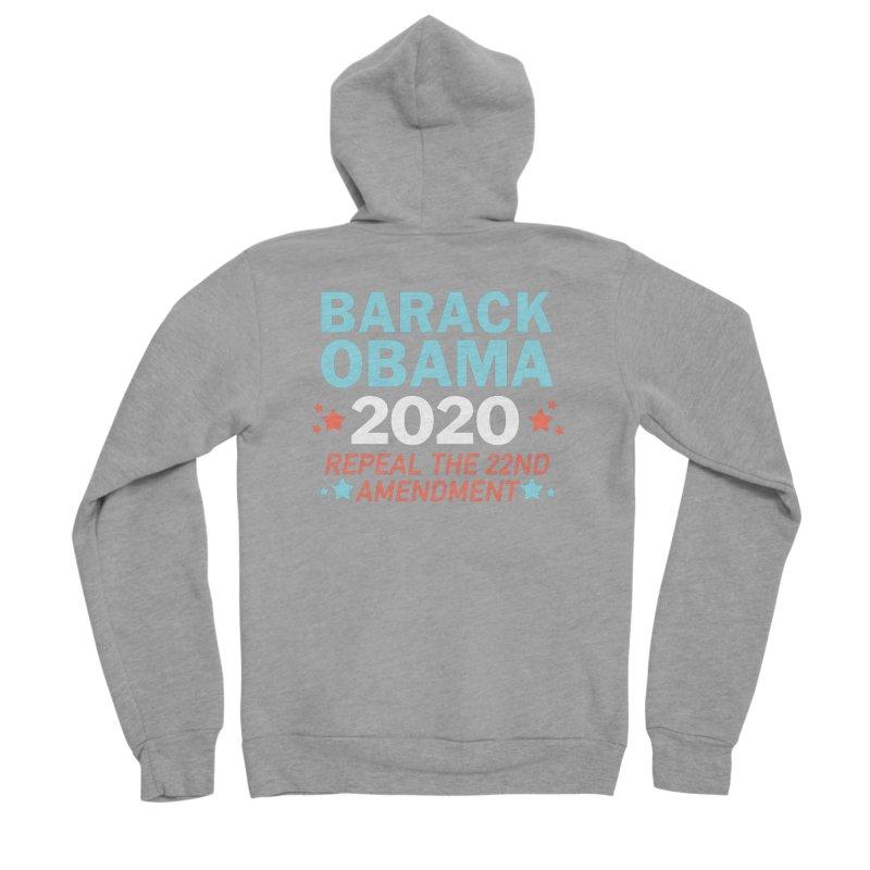 Barack Obama 2020 Women's Sponge Fleece Zip-Up Hoody by Kate Gabrielle's Artist Shop