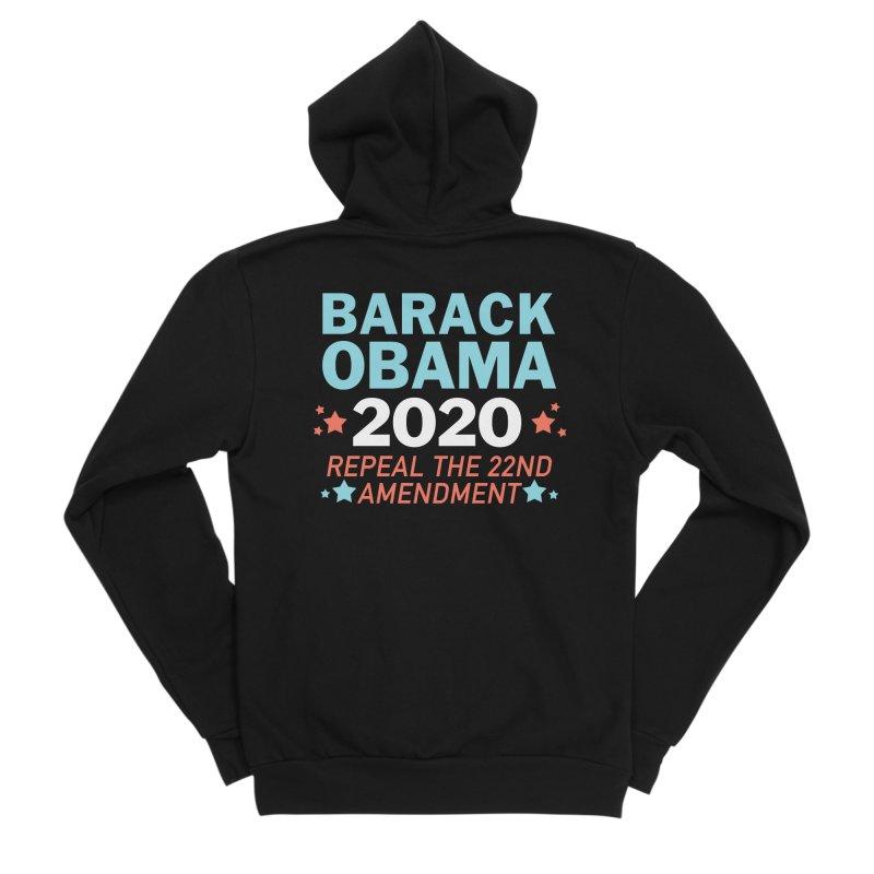 Barack Obama 2020 Men's Sponge Fleece Zip-Up Hoody by Kate Gabrielle's Artist Shop