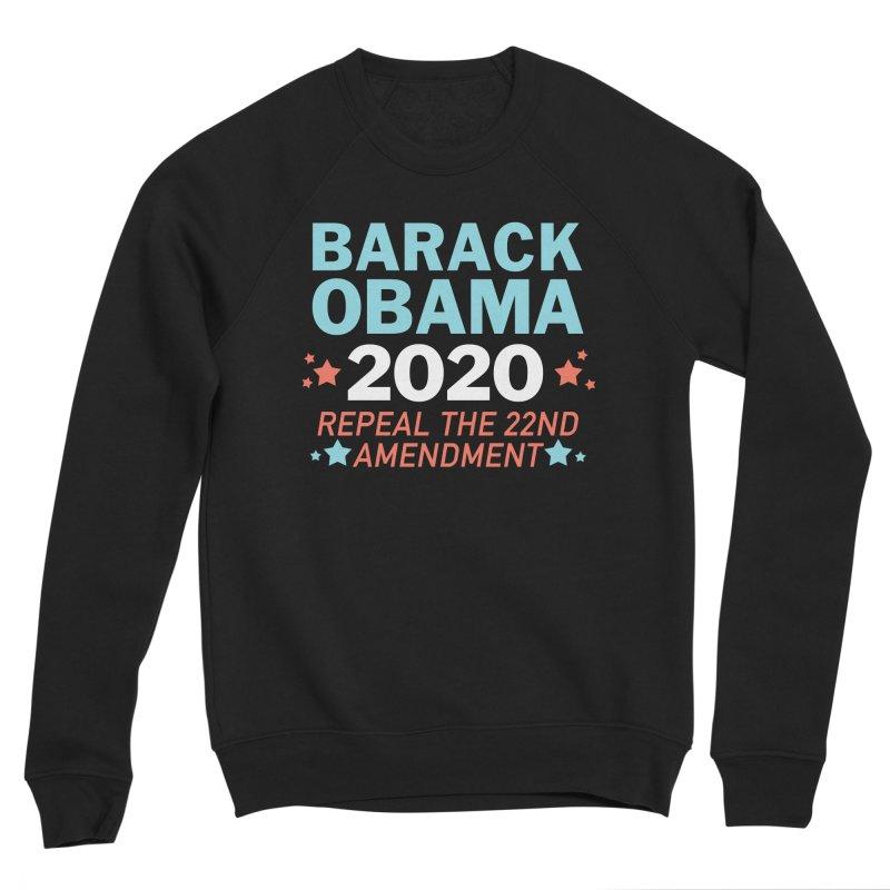 Barack Obama 2020 Women's Sponge Fleece Sweatshirt by Kate Gabrielle's Artist Shop