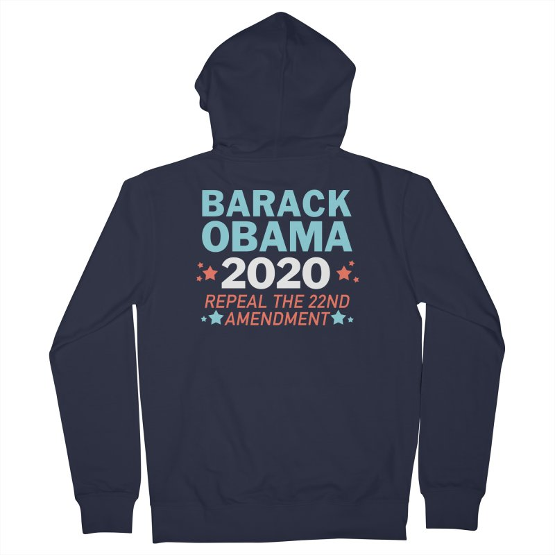 Barack Obama 2020 Men's French Terry Zip-Up Hoody by Kate Gabrielle's Artist Shop