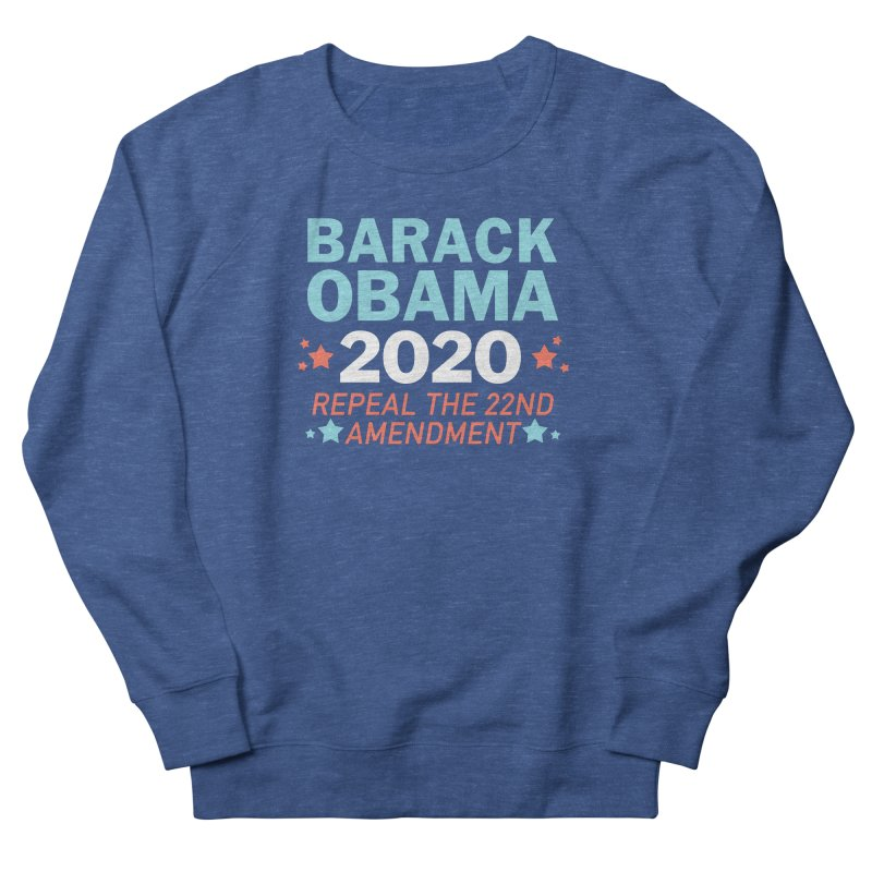 Barack Obama 2020 Men's French Terry Sweatshirt by Kate Gabrielle's Artist Shop