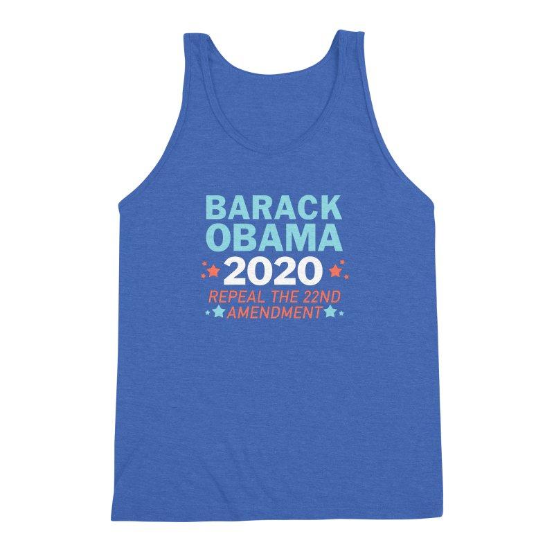 Barack Obama 2020 Men's Triblend Tank by Kate Gabrielle's Artist Shop