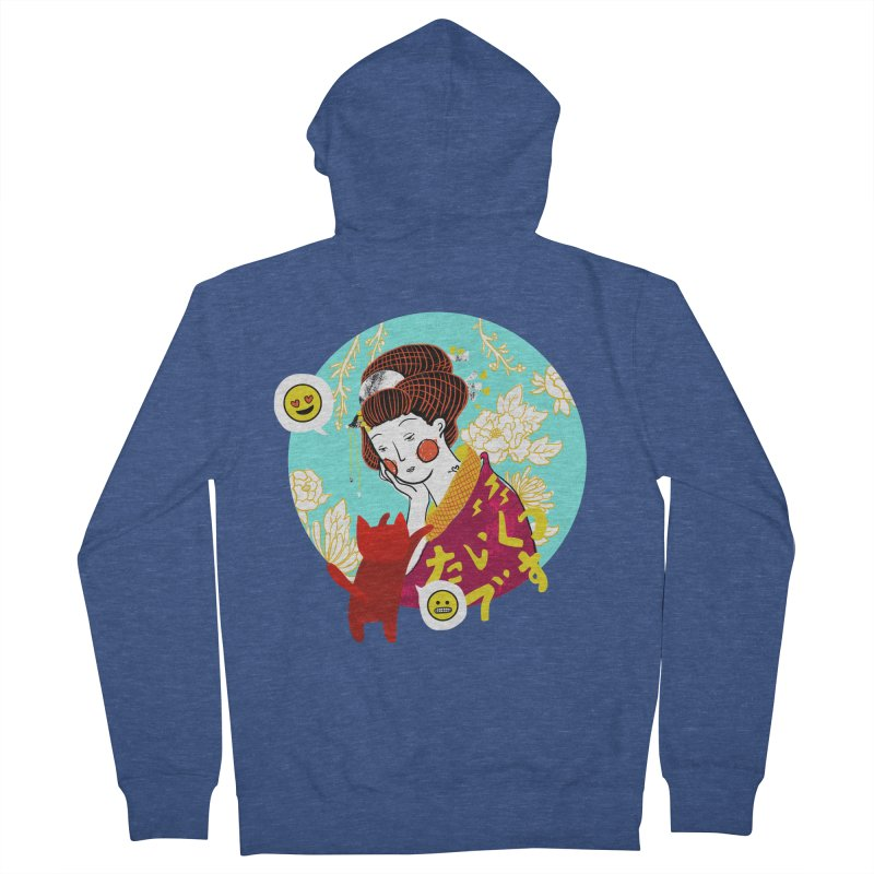 Cat Lady Women's Zip-Up Hoody by katherineliu's Artist Shop