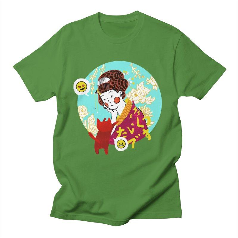 Cat Lady Men's T-Shirt by katherineliu's Artist Shop