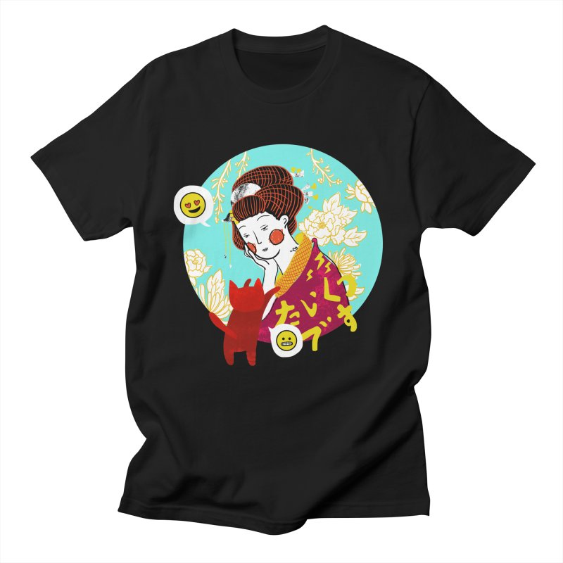 Cat Lady Women's Unisex T-Shirt by katherineliu's Artist Shop