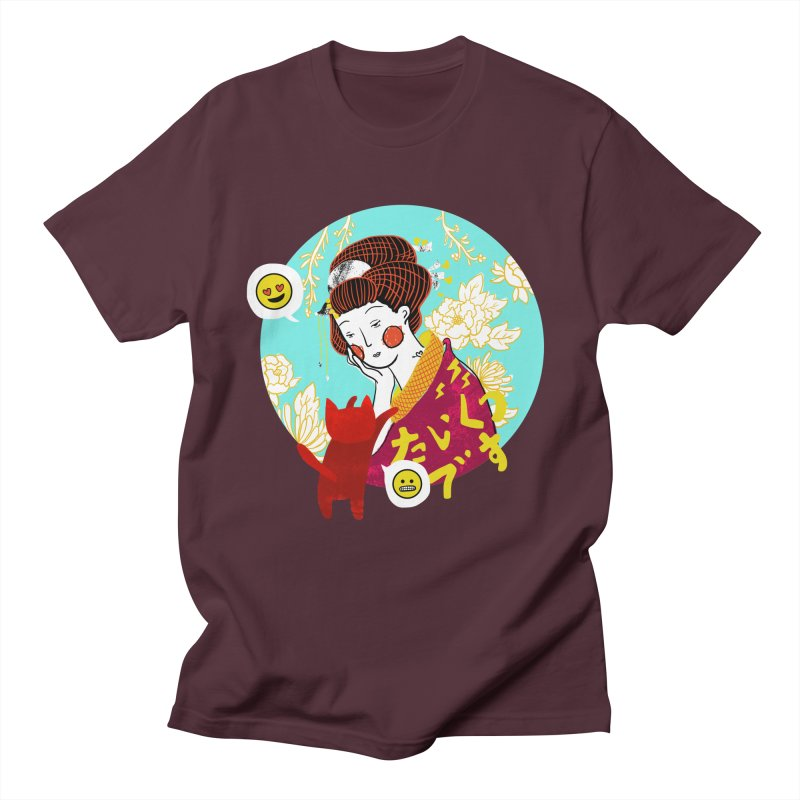 Cat Lady Men's T-shirt by katherineliu's Artist Shop