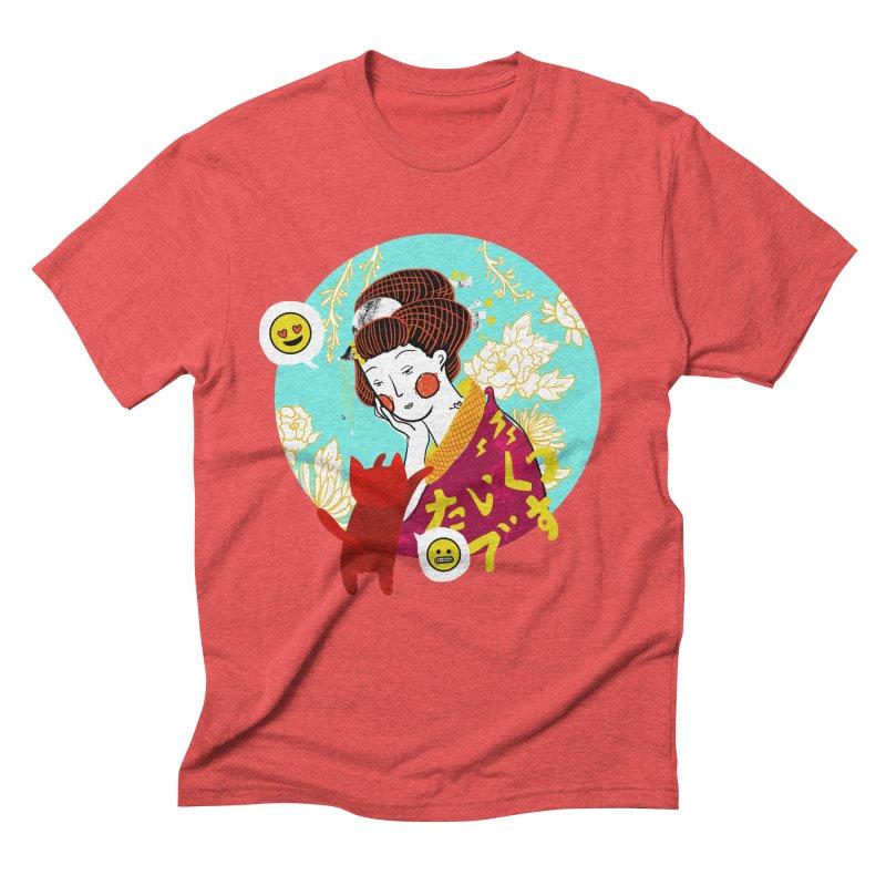 Cat Lady Men's Triblend T-shirt by katherineliu's Artist Shop