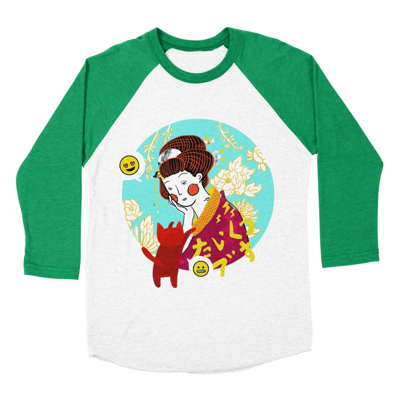 Cat Lady Men's Baseball Triblend T-Shirt by katherineliu's Artist Shop