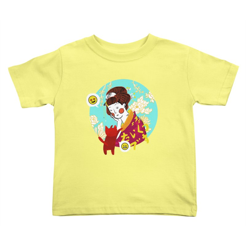Cat Lady Kids Toddler T-Shirt by katherineliu's Artist Shop