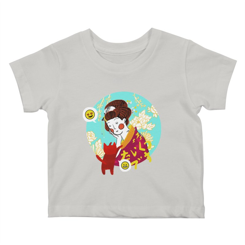 Cat Lady Kids Baby T-Shirt by katherineliu's Artist Shop
