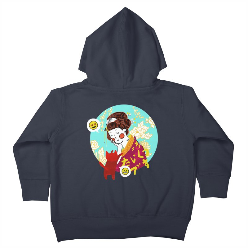 Cat Lady Kids Toddler Zip-Up Hoody by katherineliu's Artist Shop