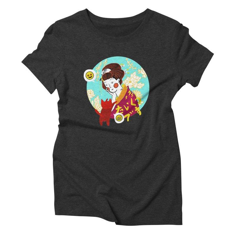 Cat Lady Women's Triblend T-Shirt by katherineliu's Artist Shop