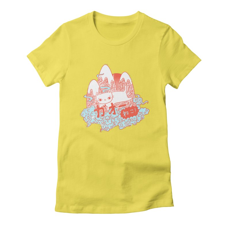 Rising Sun Women's Fitted T-Shirt by katherineliu's Artist Shop