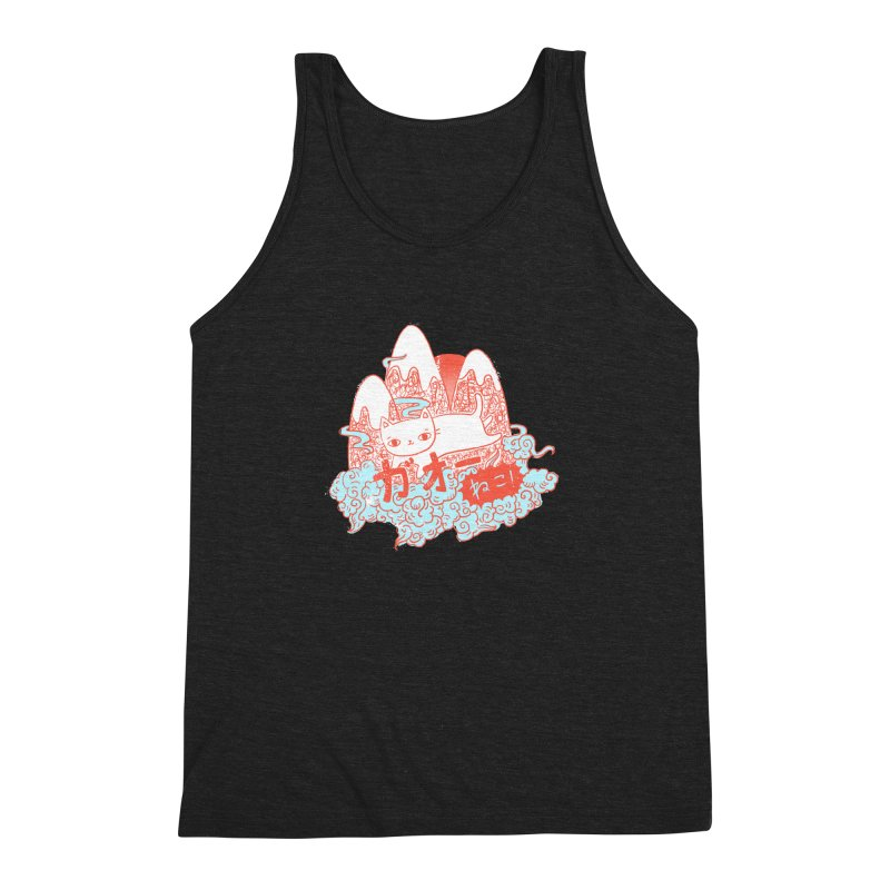 Rising Sun Men's Triblend Tank by katherineliu's Artist Shop