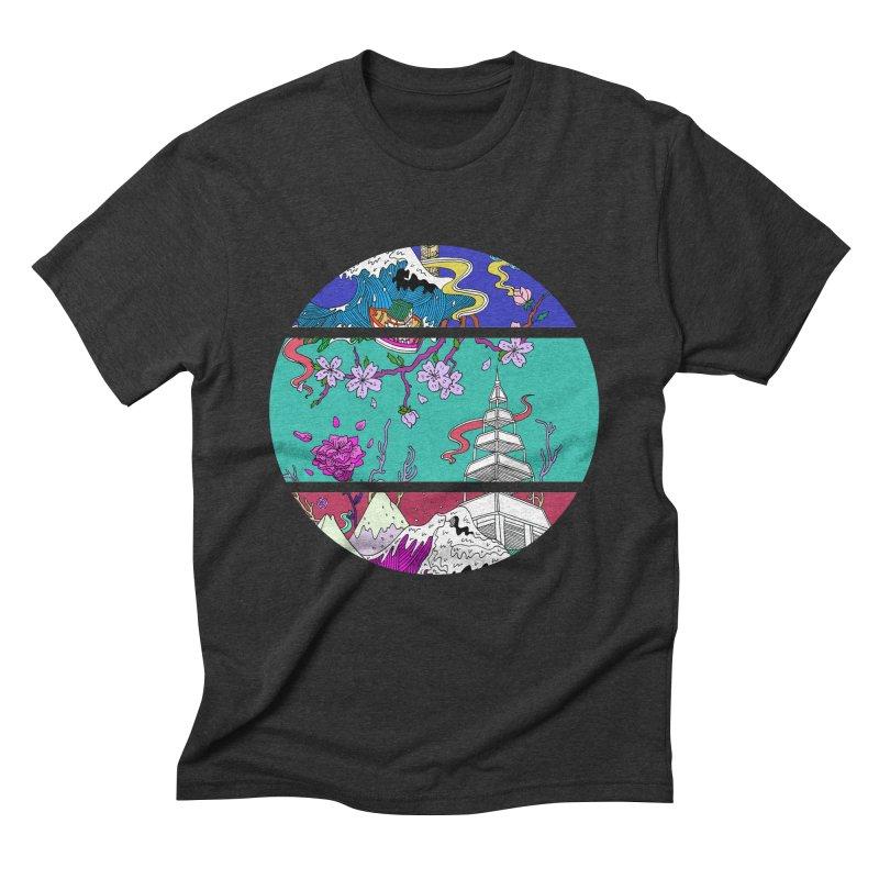 Dreamscape Men's Triblend T-Shirt by katherineliu's Artist Shop