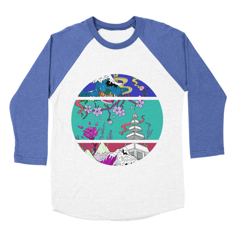 Dreamscape Women's Baseball Triblend T-Shirt by katherineliu's Artist Shop