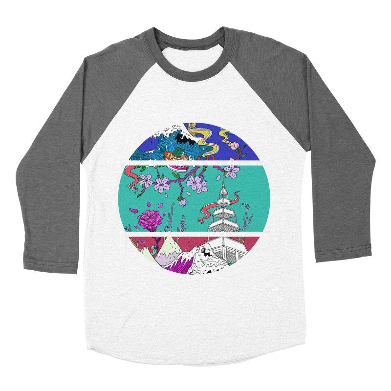 Dreamscape Men's Baseball Triblend T-Shirt by katherineliu's Artist Shop