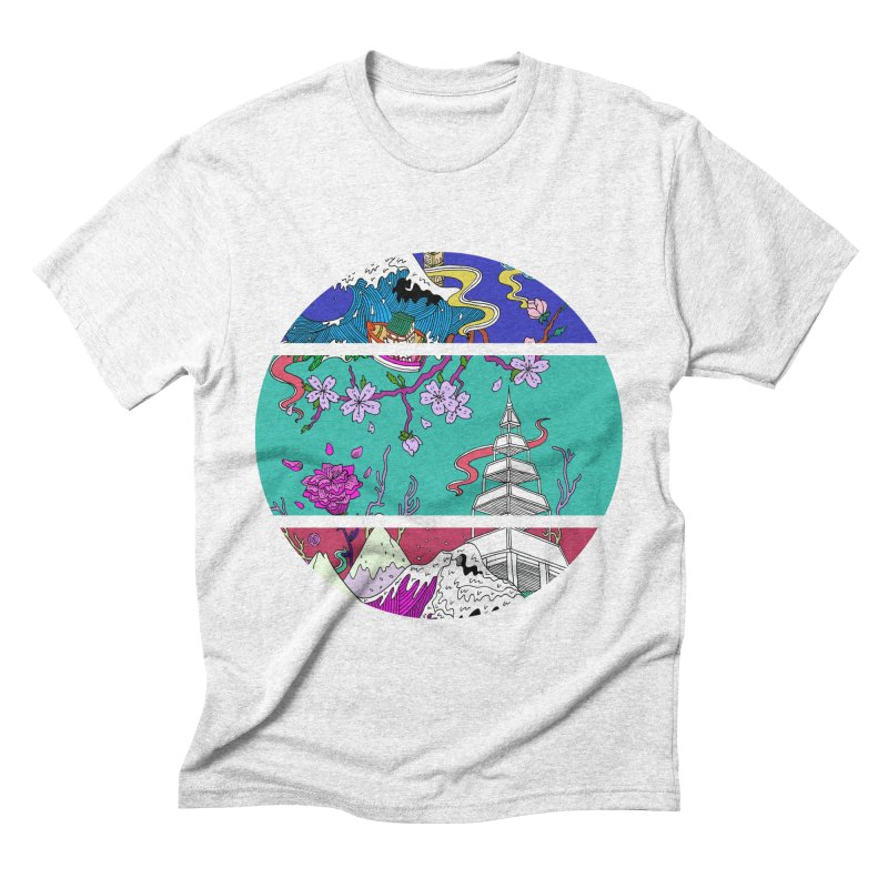 Dreamscape Men's Triblend T-shirt by katherineliu's Artist Shop