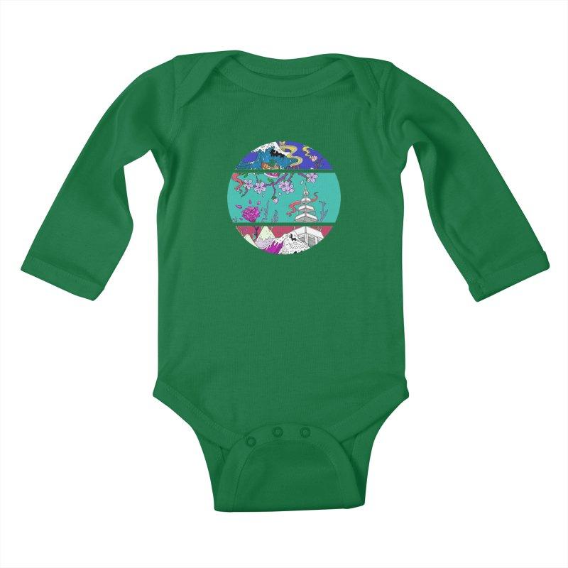 Dreamscape Kids Baby Longsleeve Bodysuit by katherineliu's Artist Shop