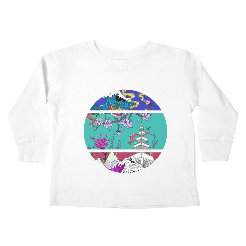 Dreamscape Kids Toddler Longsleeve T-Shirt by katherineliu's Artist Shop