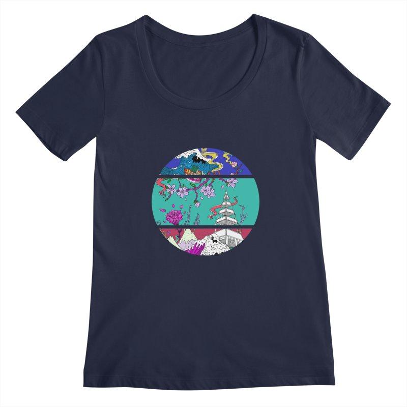 Dreamscape Women's Scoopneck by katherineliu's Artist Shop