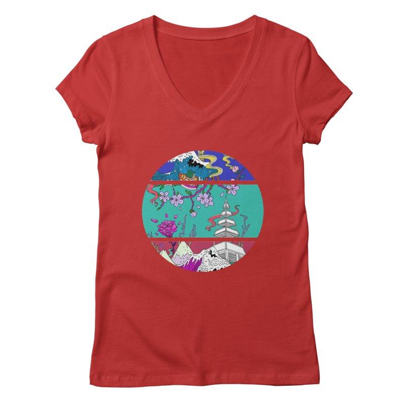 Dreamscape Women's V-Neck by katherineliu's Artist Shop