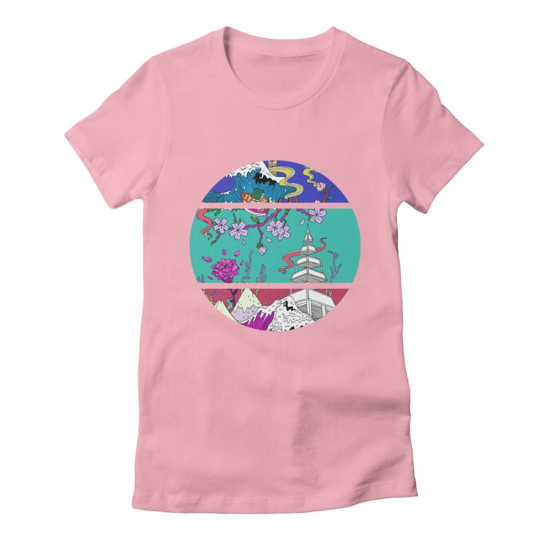 Dreamscape Women's Fitted T-Shirt by katherineliu's Artist Shop