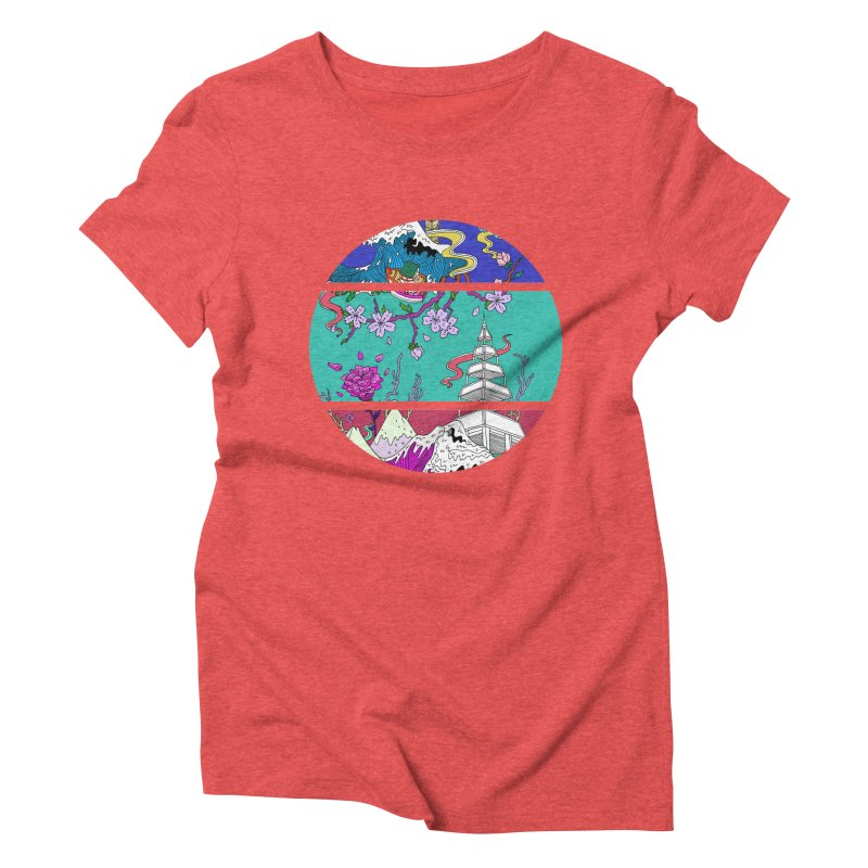 Dreamscape Women's Triblend T-Shirt by katherineliu's Artist Shop