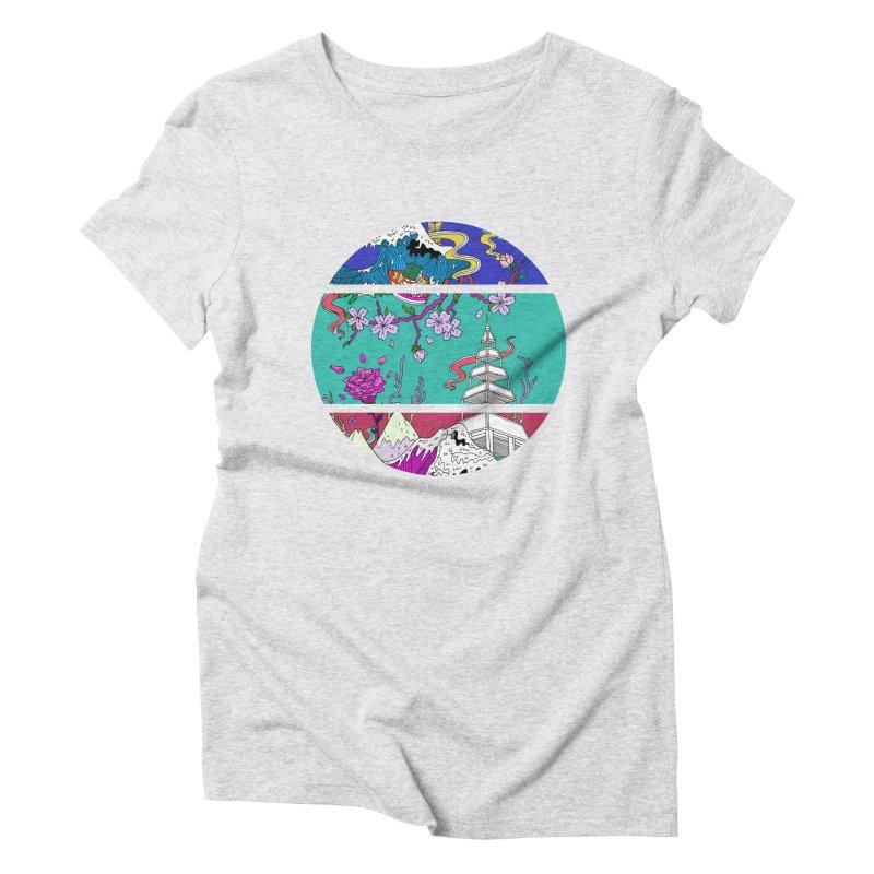 Dreamscape Women's Triblend T-Shirt by katherineliu's Artist Shop
