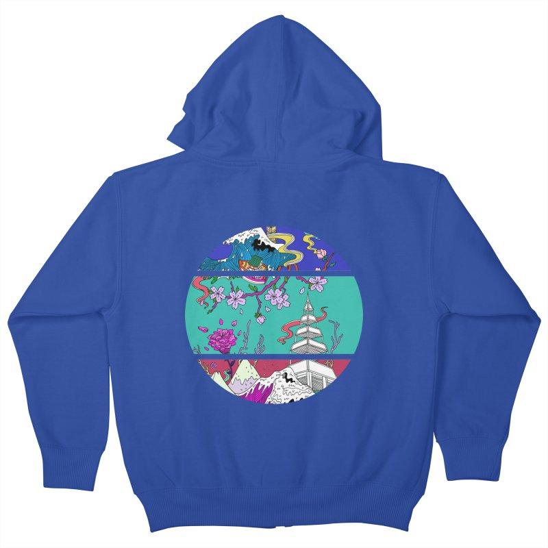 Dreamscape Kids Zip-Up Hoody by katherineliu's Artist Shop