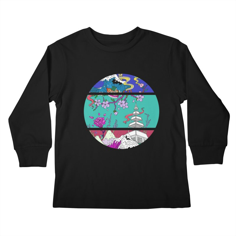 Dreamscape Kids Longsleeve T-Shirt by katherineliu's Artist Shop