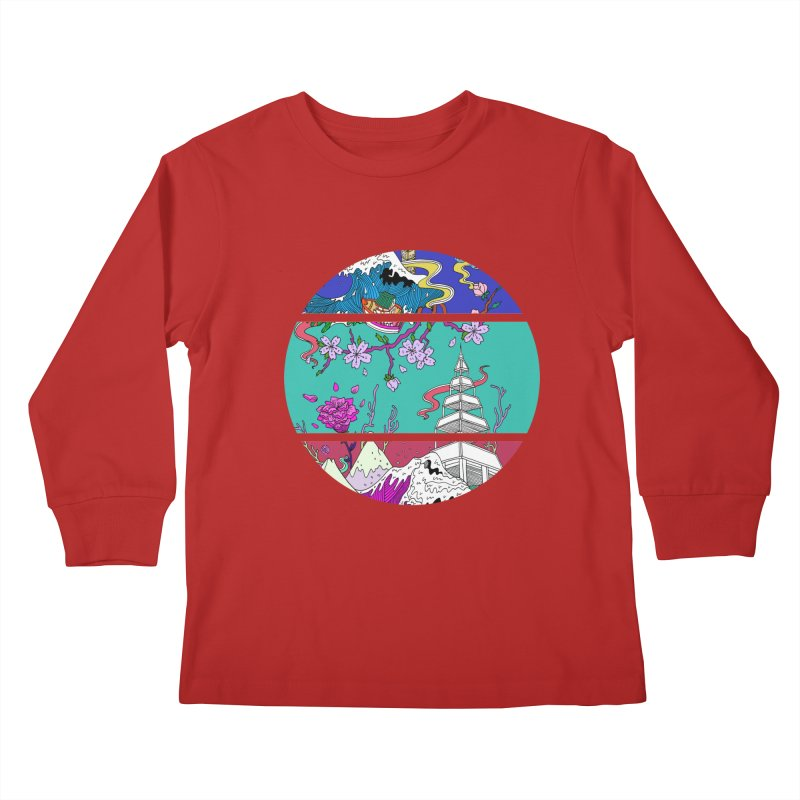 Dreamscape Kids Longsleeve T-Shirt by katherineliu's Artist Shop
