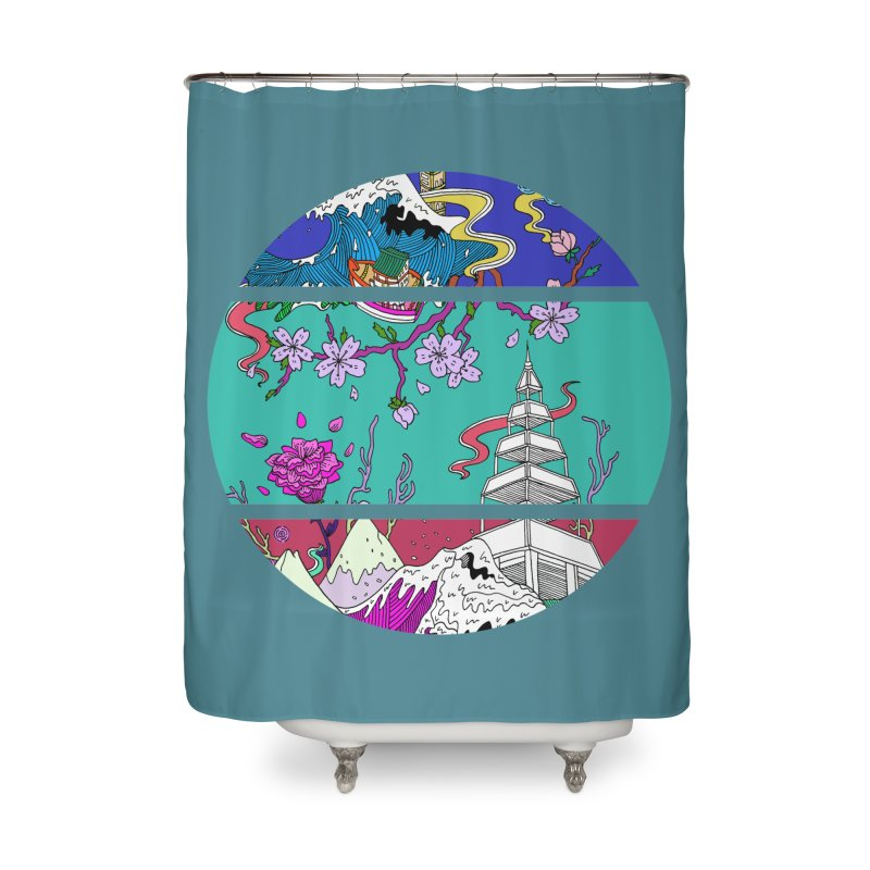 Dreamscape Home Shower Curtain by katherineliu's Artist Shop