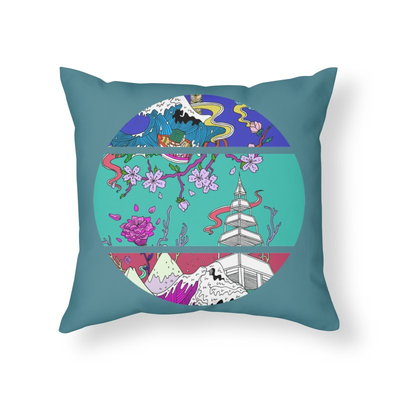 Dreamscape Home Throw Pillow by katherineliu's Artist Shop