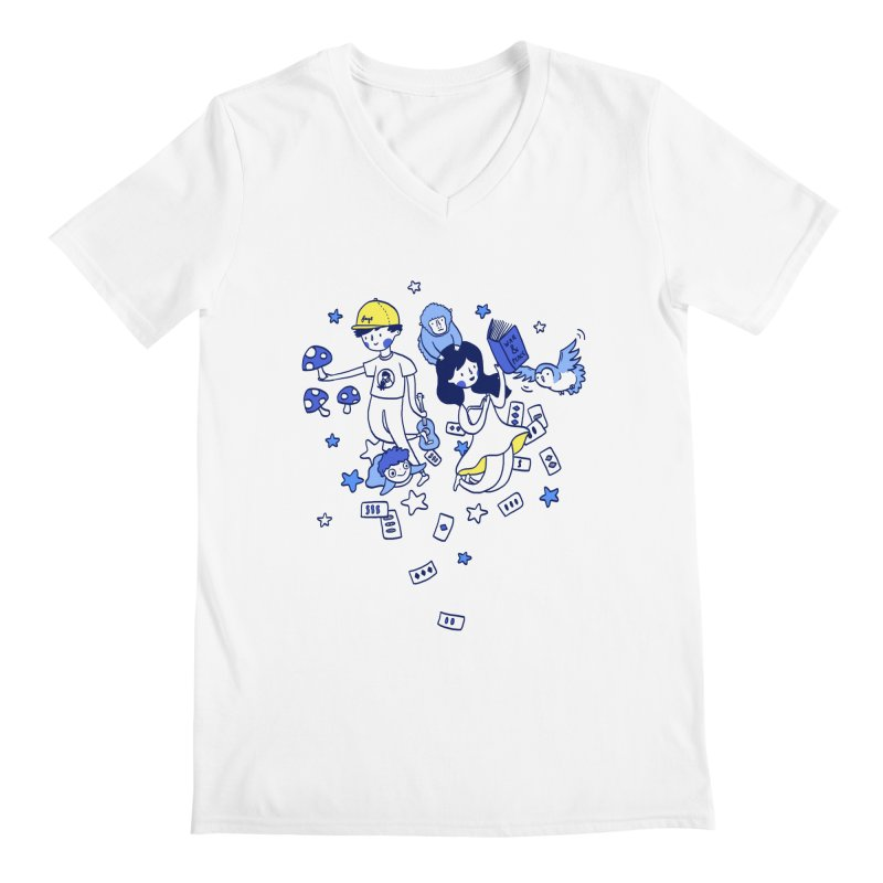 Explorations Men's V-Neck by katherineliu's Artist Shop