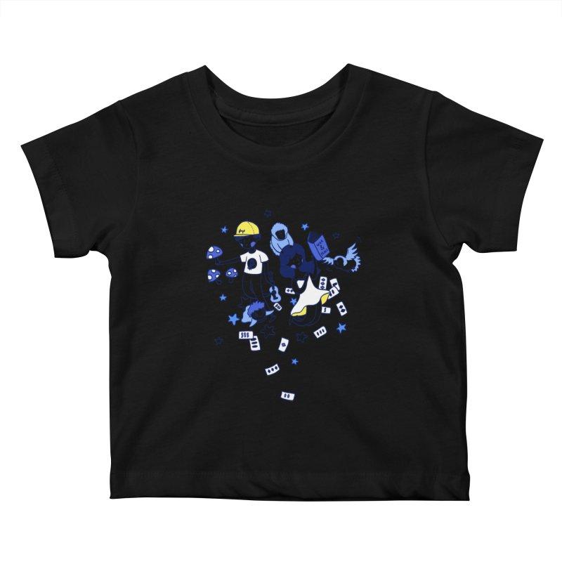 Explorations Kids Baby T-Shirt by katherineliu's Artist Shop
