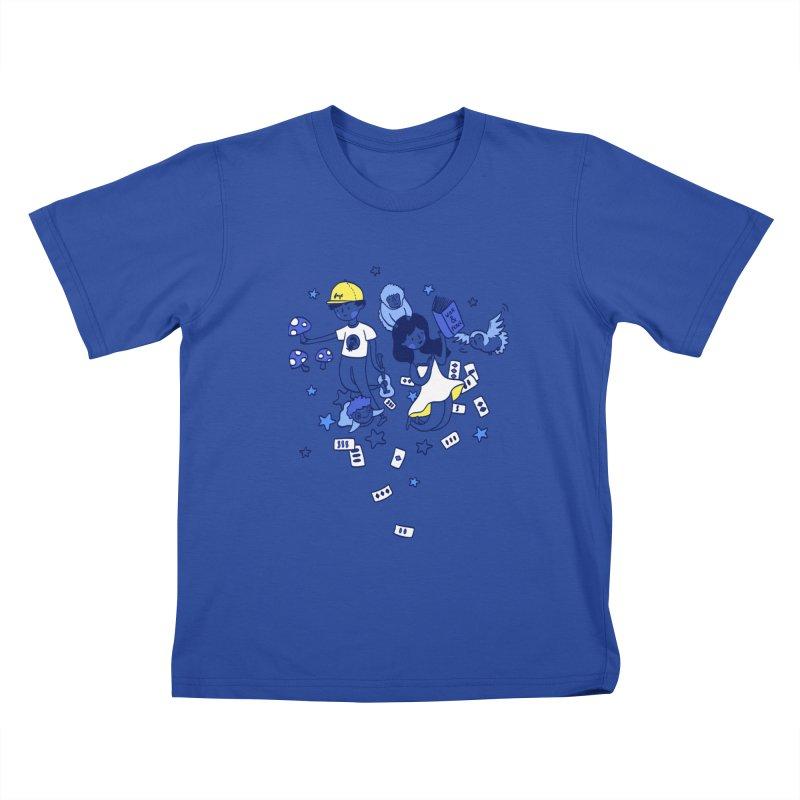 Explorations Kids T-Shirt by katherineliu's Artist Shop