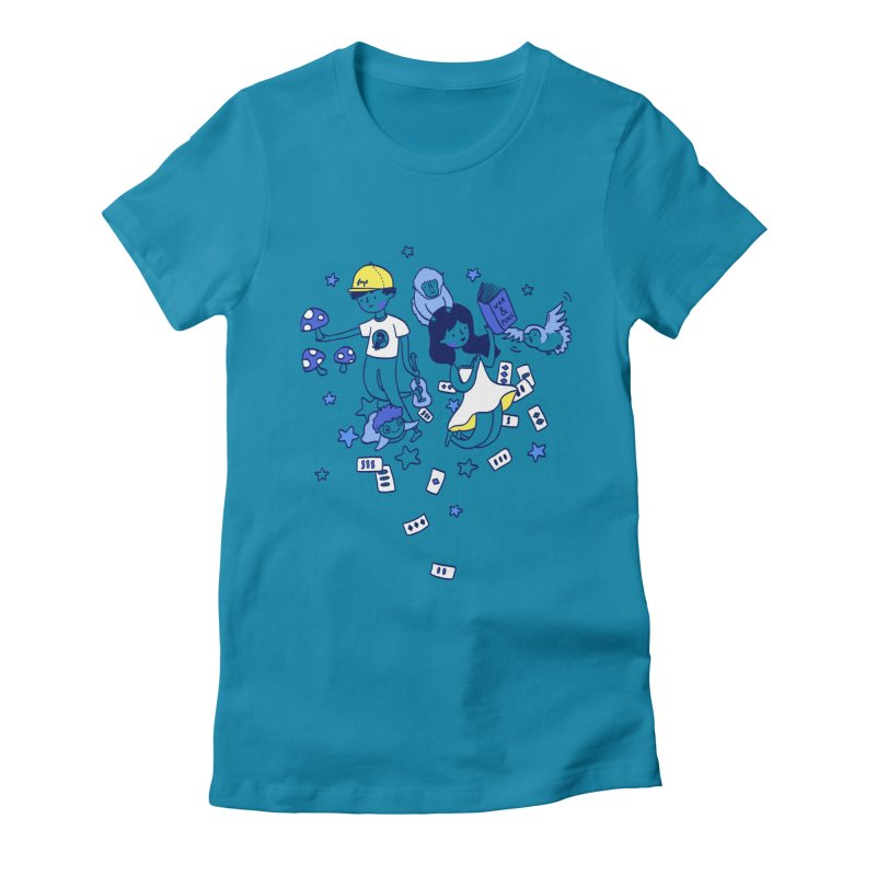 Explorations Women's Fitted T-Shirt by katherineliu's Artist Shop