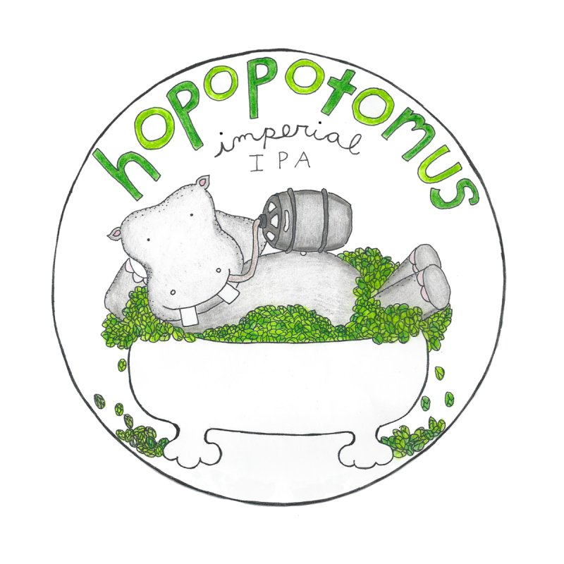 Happy Hopopotamus Women's Longsleeve T-Shirt by kathleenfounds's Artist Shop