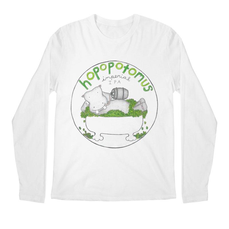 Happy Hopopotamus Men's Longsleeve T-Shirt by kathleenfounds's Artist Shop
