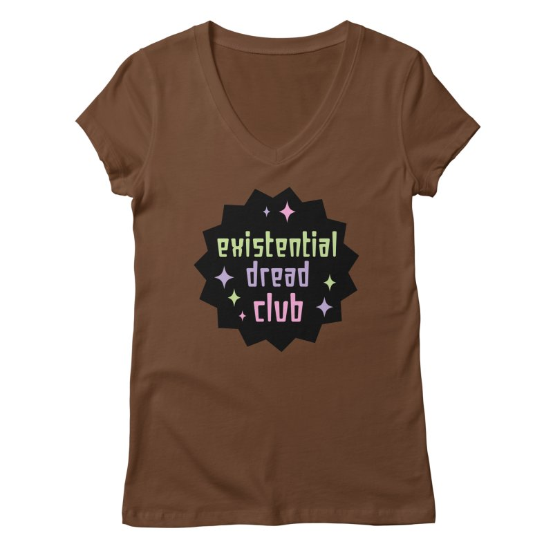 Existential Dread Women's Regular V-Neck by kathudsonart's Artist Shop