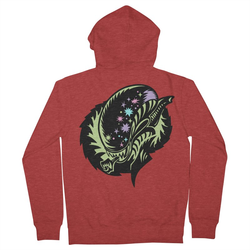 Xeno Women's French Terry Zip-Up Hoody by kathudsonart's Artist Shop