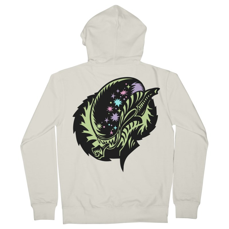 Xeno Men's French Terry Zip-Up Hoody by kathudsonart's Artist Shop
