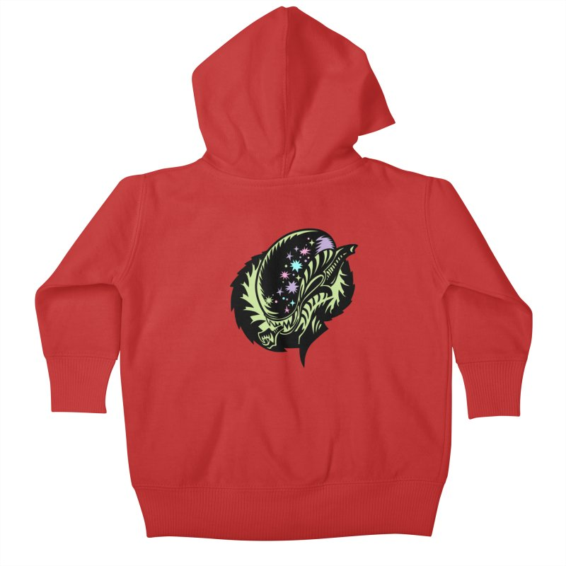 Xeno Kids Baby Zip-Up Hoody by kathudsonart's Artist Shop