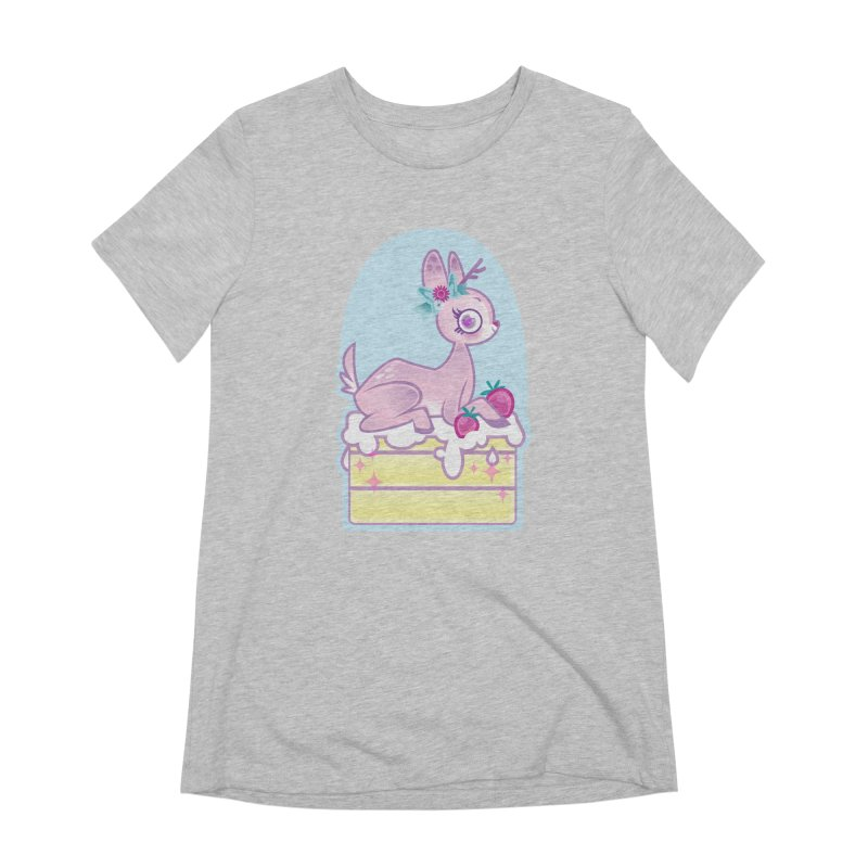 Deery Cake Women's Extra Soft T-Shirt by kathudsonart's Artist Shop