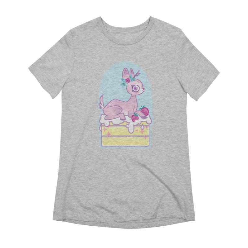Deery Cake Women's Extra Soft T-Shirt by kathudsonart's Artist Shop