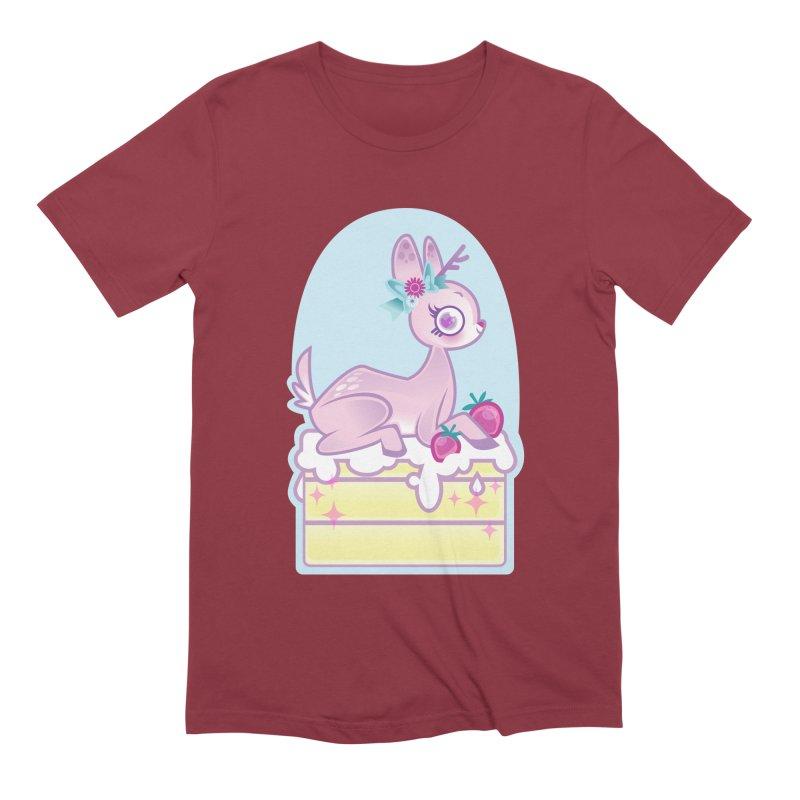 Deery Cake Men's Extra Soft T-Shirt by kathudsonart's Artist Shop