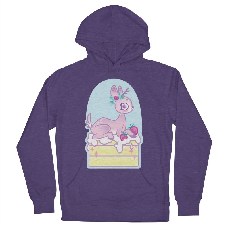 Deery Cake Men's French Terry Pullover Hoody by kathudsonart's Artist Shop