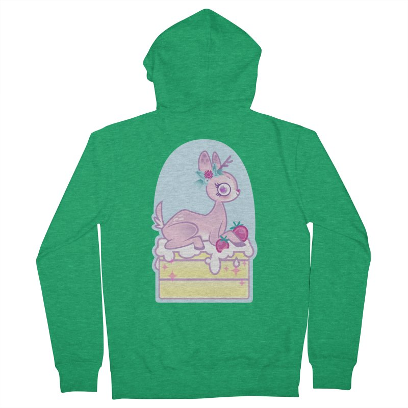 Deery Cake Men's French Terry Zip-Up Hoody by kathudsonart's Artist Shop